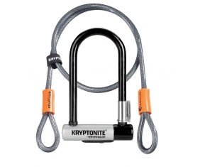 Zapięcie U-lock z linką Kryptonite Kryptolok Mini 7 Centralny Zamek + Kryptoflex Cable