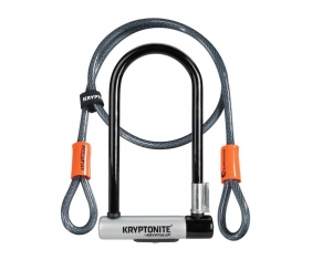 Zapięcie U-lock z linką Kryptonite Kryptolok Centralny Zamek + Kryptoflex Cable